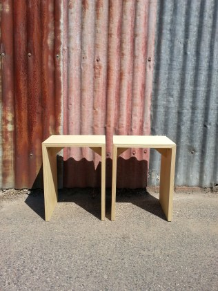 This Way Upcycle - Plywood side tables