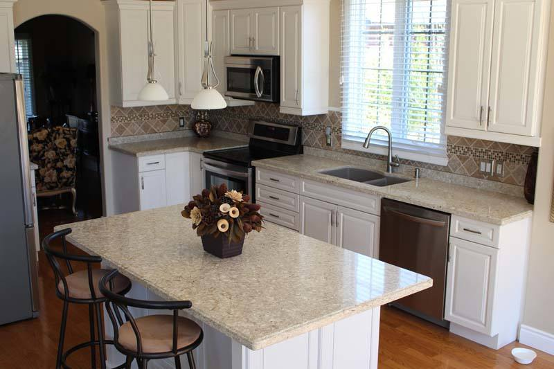 hope kitchen cabinets cart on wheels quartz countertops in durham region, northern rock tops