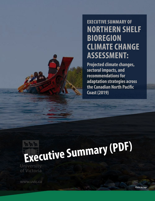 Cover of the executive summary of the Northern Shelf Bioregion Climate Change Assessment.