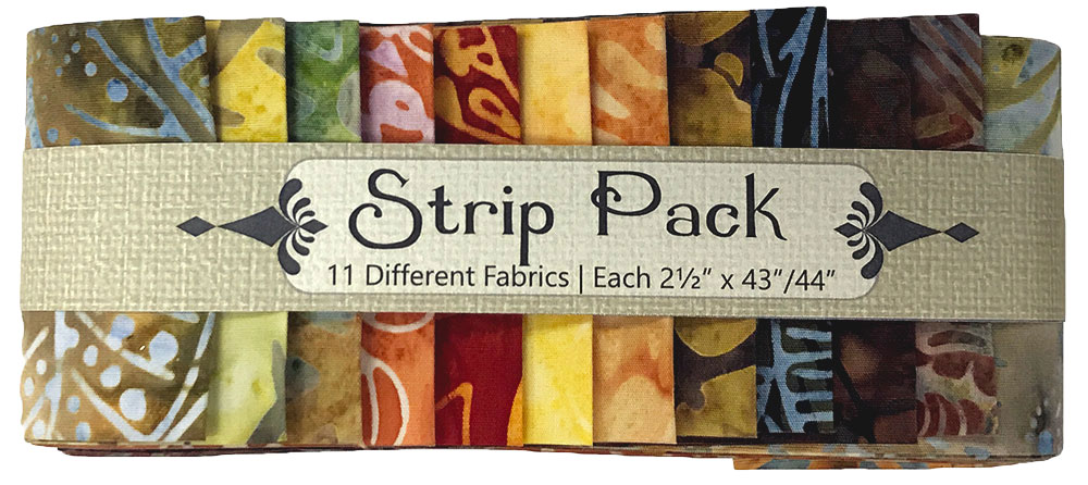 Strip Pack Fall Batiks