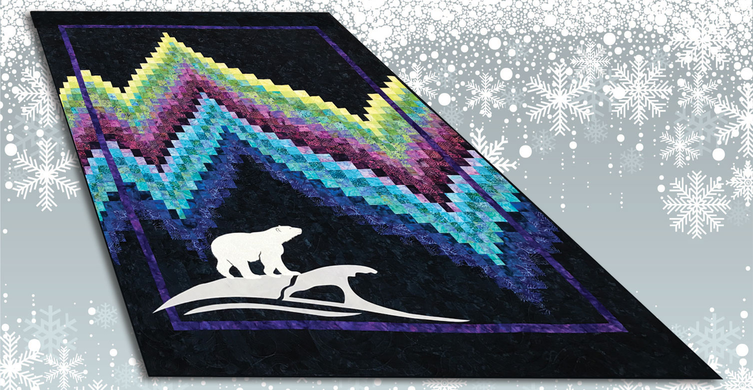 No-Measure Bargello Quilt with Northern Lights Theme