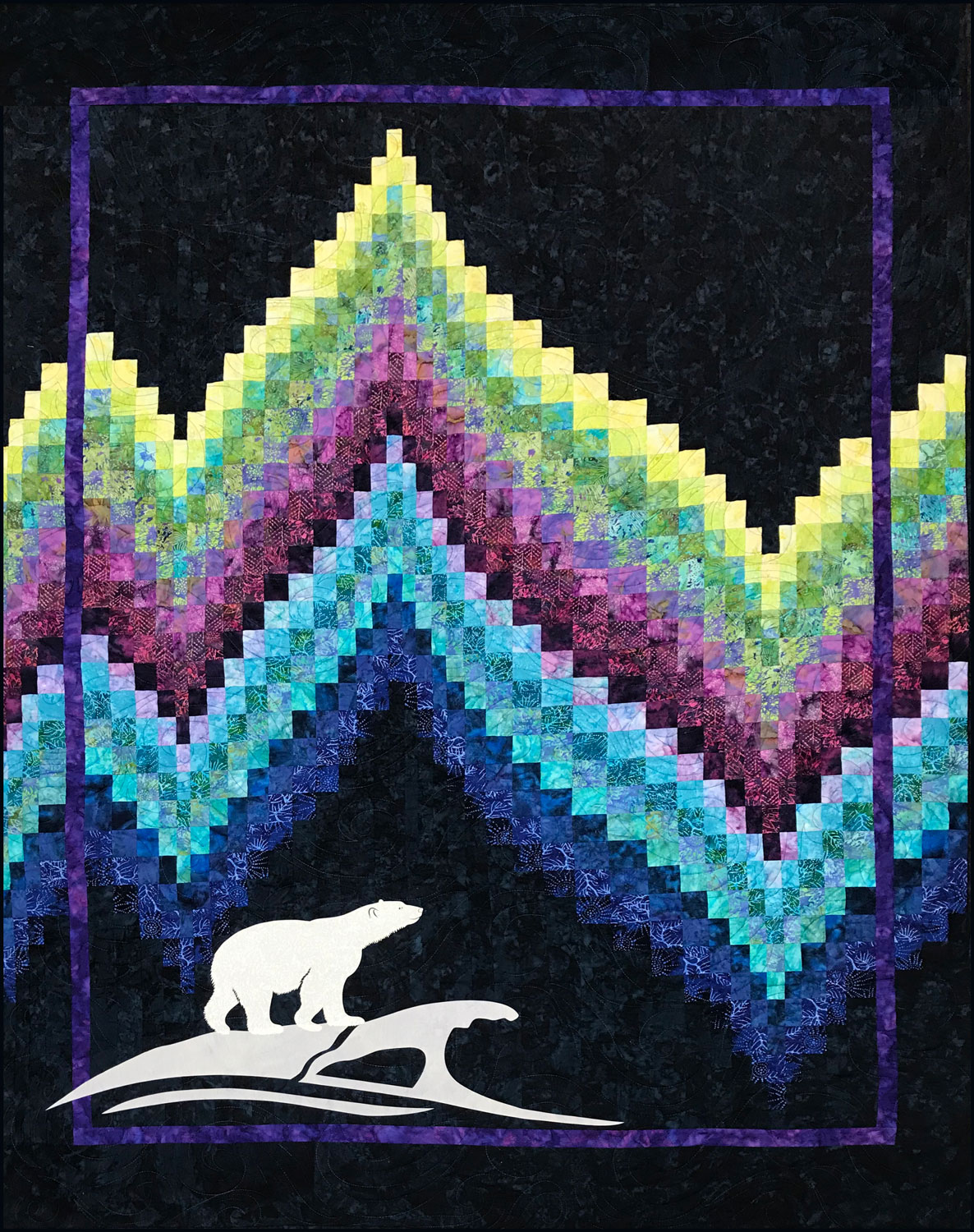 No Measure Bargello Quilt With Northern Lights Theme Northern Threads