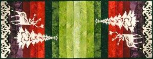 Reindeer & Holiday Tree Pre-Fuded Laser Cut Applique Set