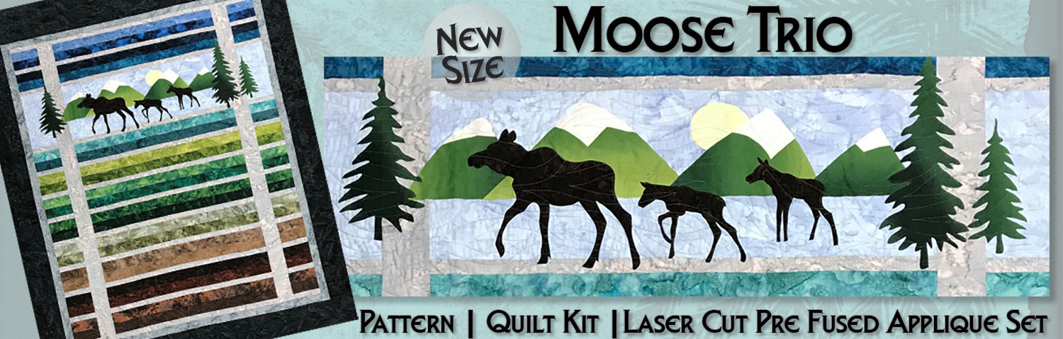 Moose Trio pattern resized and recolored