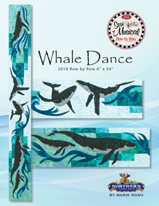 Whale Dance Row by Row 2018 by Marie Noah