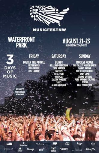 MusicfestNW 2015 announces Lineup, bands playing include Belle & Sebastian, Modest Mouse