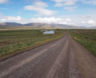 Iceland gravel road