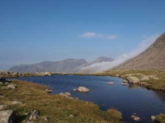 Cloud clearing over the Scafells