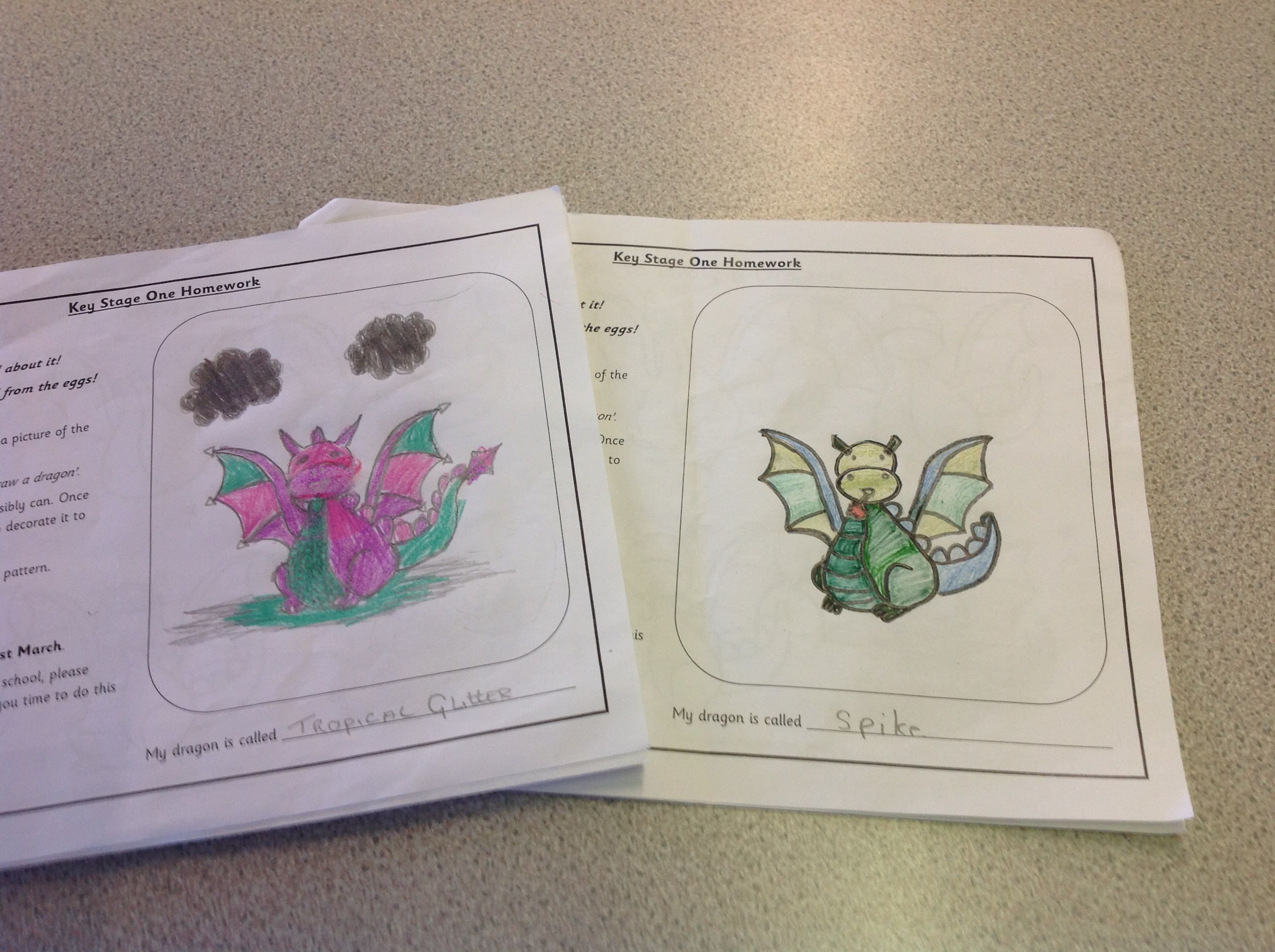 Dragon Homework Ks1