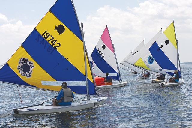 mattituck yacht club's sunfish derby