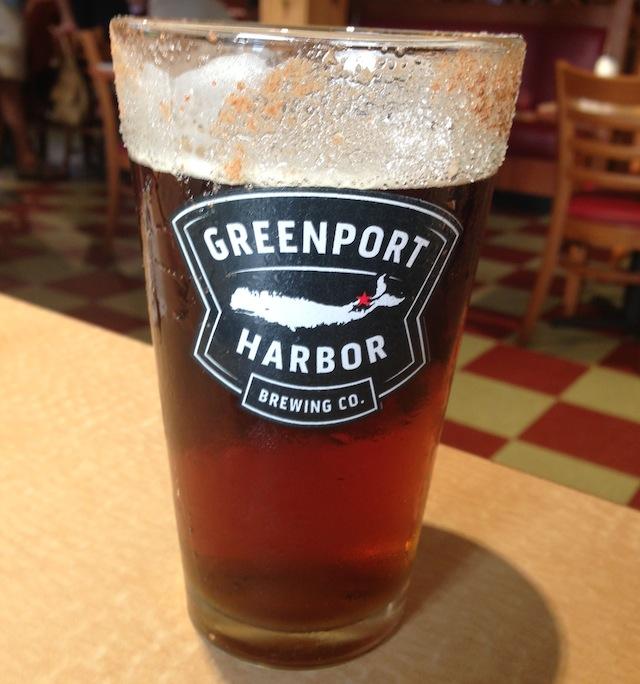 leaf pile ale greenport harbor
