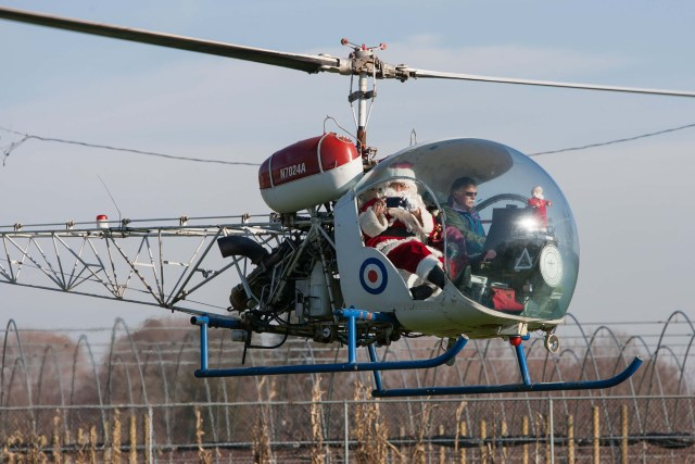 Christmas Cutchogue helicopter