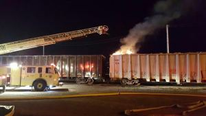 North Haven Fire Department Extinguishes Blaze at CSX Yard