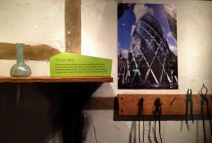 glass bottle and image of The Shard