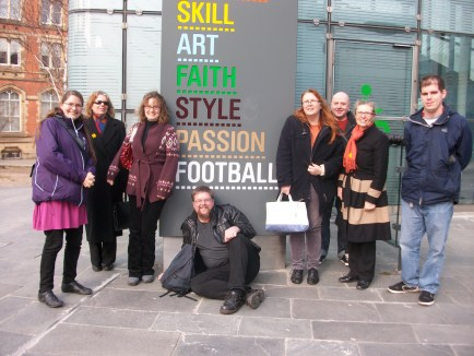 The team outside the Football Museum