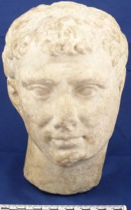 A Roman marble head