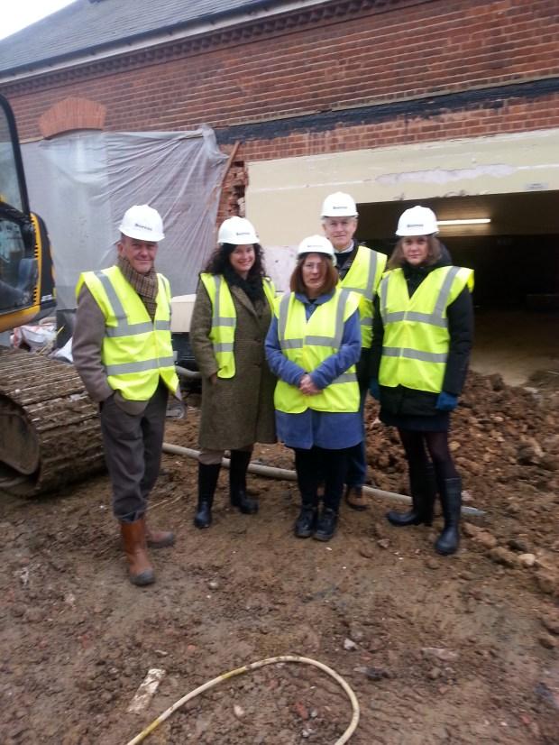 Site visit by John Robinson, Sylvia Hirons (HLF), Ros Allwood, Philip Venning (HLF Committee Member ) and Sophia Mirchandini (HLF External Assessor)
