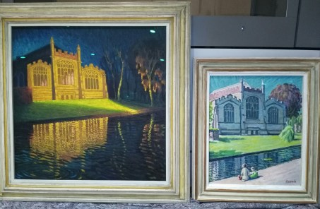 Newly-glazed paintings of St Mary's Church by Gerard Ceunis