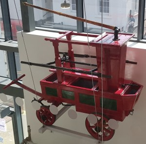 A hand tub fire engine, made by John Bristow in 1793, and used in Offley until 1920