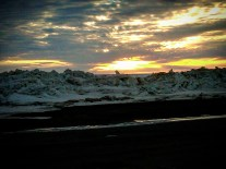 Sunset Over Melting Sea Ice (Barrow)