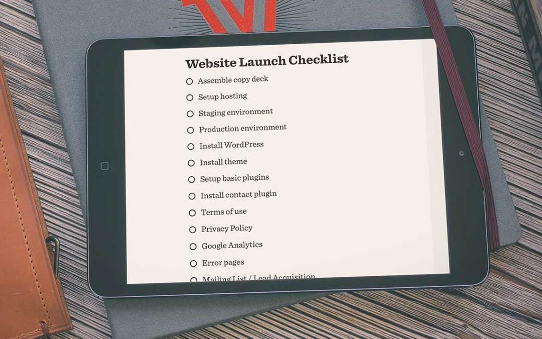 A Website Launch Checklist