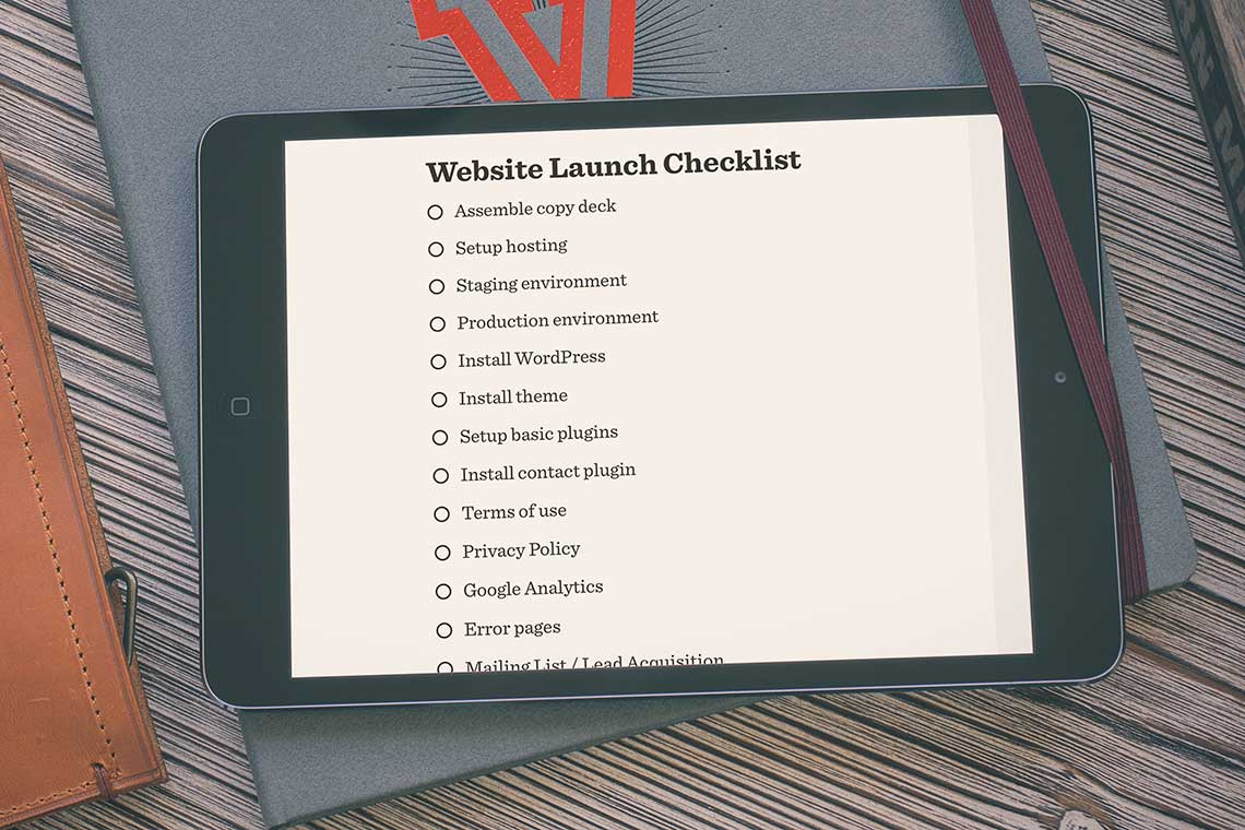 How to build a Website Checklist