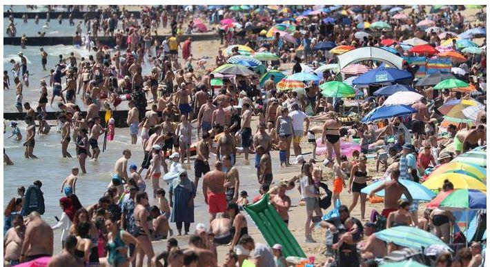 packed beach kent