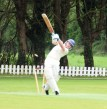 A whirl of blurry action... this is how to maximise the results of a free hit... if you're the bowler!!
