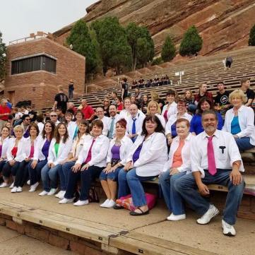 Waiting for the sound check with Face Vocal Band at Red Rocks, Aug. 6, 2017