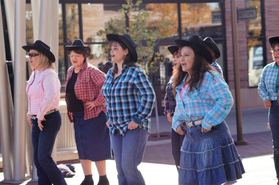 Performing excerpts from our Crossover Country Show at The Orchard Town Center in Westminster, October 2017