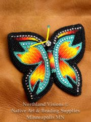 butterly barret with crystals