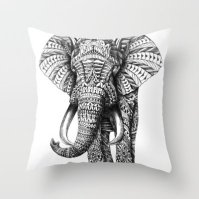 Pillow - http://society6.com/product/Ornate-Elephant_Pillow