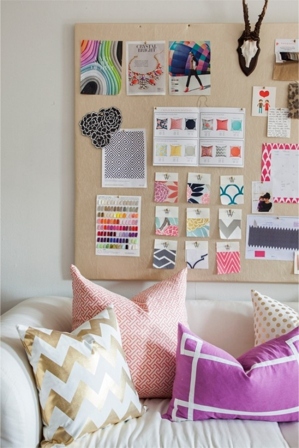 Bright swatches - http://theglitterguide.com/2013/03/12/diy-to-try-inspirational-boards/