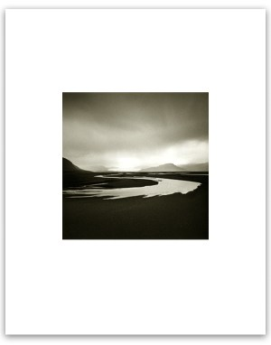 "Bill Schwab – ""Glacial Stream, Iceland 2003"" (gum/palladium print)"