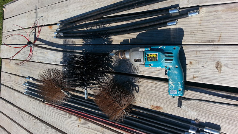 Cleaning a Chimney tools