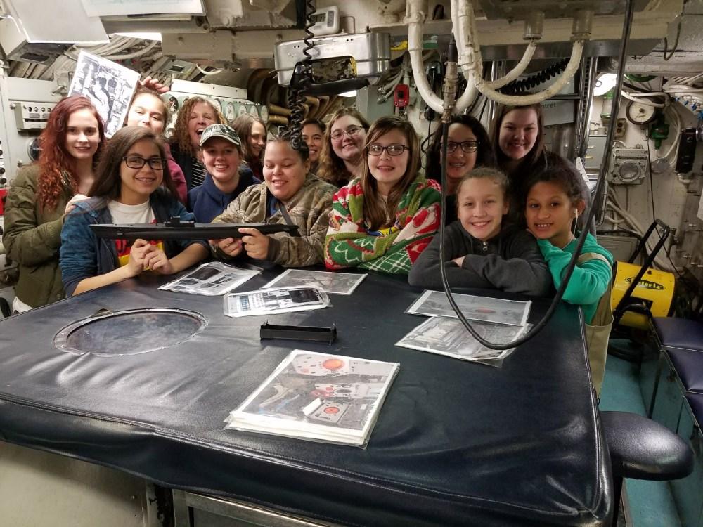 USS Razorback tour