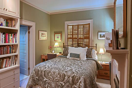 Asheville B&B Queen Bed Guest Room
