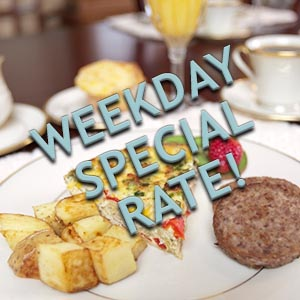 Asheville Bed and Breakfast Special Weekday Package Reduced B&B Rates