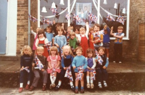 A Seaview group celebrates the wedding of Charles and Di in 1981.