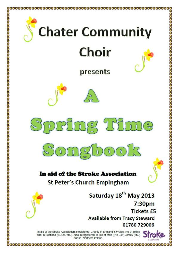 Springtime Songbook Poster