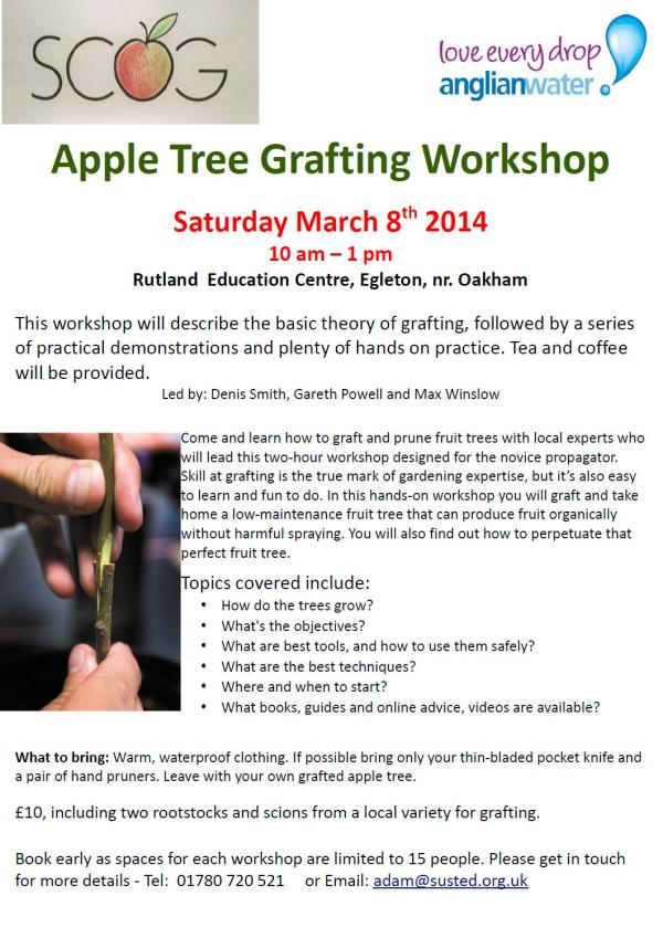 Apple Tree Grafting Workshop 8mar14