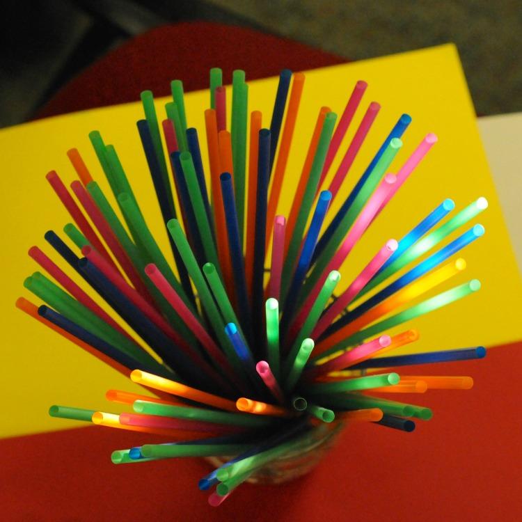 Coloured Straws by Paul Cummings