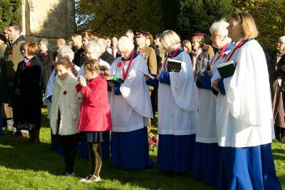 Choir and Congregation gather at the Commonwealth War Graves Plot