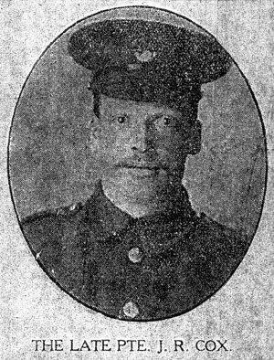 21018 Private John Robert Cox