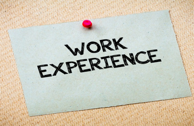 TY/LCA: Work Experience Evaluation Form