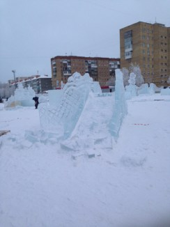 yes, that's a slide carved out of a block of ice