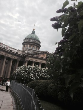Kazan Cathedral, in all its lilac glory