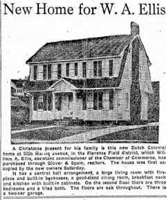 This home in Florence Field was built at 3025 Martin Avenue, and is gone today.