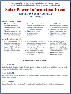 Solar Earth Day 2018