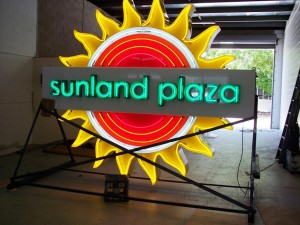 Neon signs done for sunland plaza